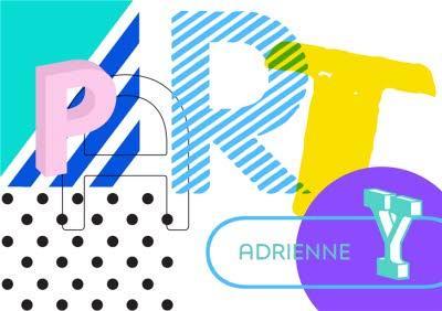 Pop Art Letters Party Invitation