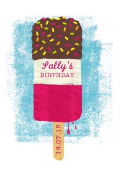 Ice Cream Personalised Birthday Party Invitation