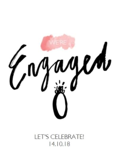 Watercolour Were Engaged Party Invitation