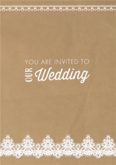 Lace Doily Pattern Wedding Invitation