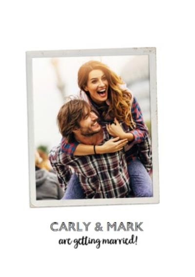 Greyscale We Are Getting Married Photo Card
