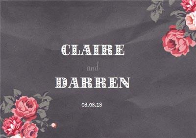 Rose Bunches Wedding Invitation Card