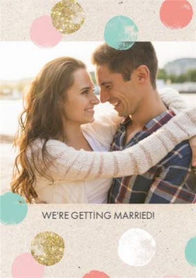 Photo Upload We Are Getting Married Card