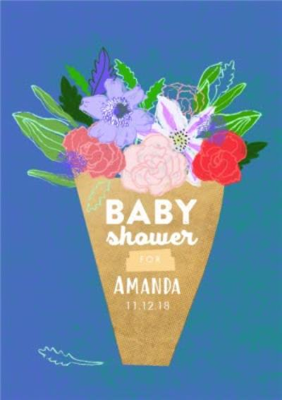Personalised Baby Shower Floral Card