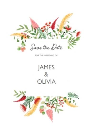 Floral Personalised Save The Date Wedding Invitation