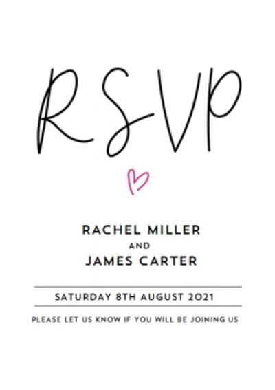 Typographic Wedding RSVP Card