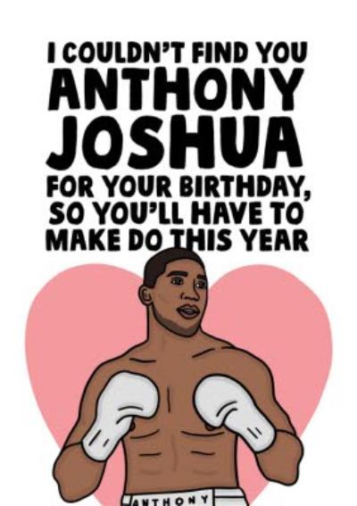 Funny Boxer Heart Throb Birthday Card