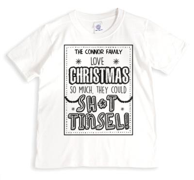 To The Family Funny Christmas Tinsel T-Shirt