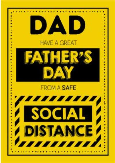 Jam and Toast Safe Social Distance Dad Father's Day Card
