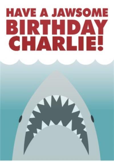 Jaws birthday card - Universal