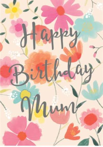 Happy Birthday Mum card