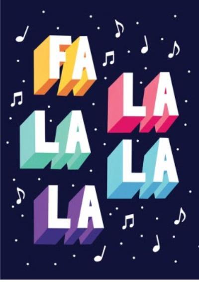 Fa La La La La Christmas Card