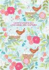 Pastel Flowers And Birds Personalised Happy Mother's Day Card