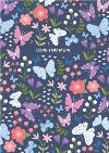 Butterflies And Flowers Love You Mum Mother's Day Card