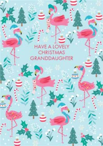 Flamingo Christmas Card Have a lovely Christmas