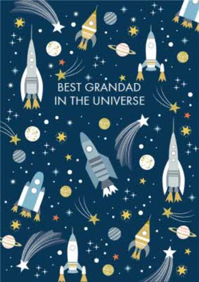 Illustrated Best Grandad In The Universe Father's Day Card