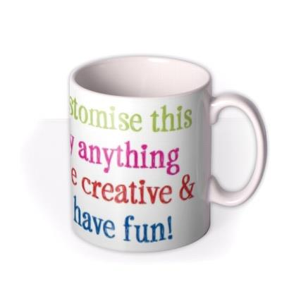 Multicoloured Text Personalised Mug