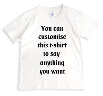 Say Anything White Personalised T-shirt