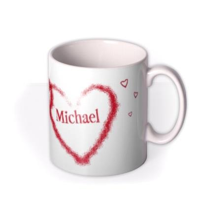 Valentine's Day Double Red Heart Personalised Mug