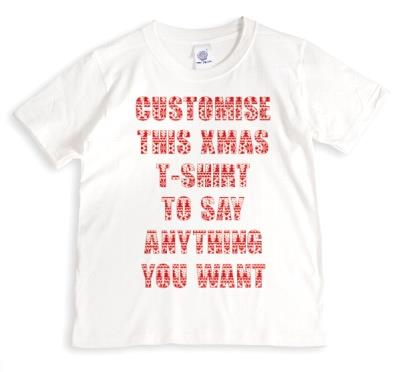Merry Christmas Say Anything Grey Personalised T-shirt