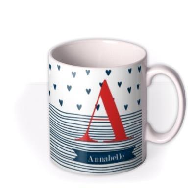 Birthday Mug - monogrammed - initials - hearts