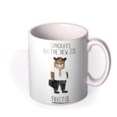 Jolly Awesome Funny Traitor Leaving for New Job mug