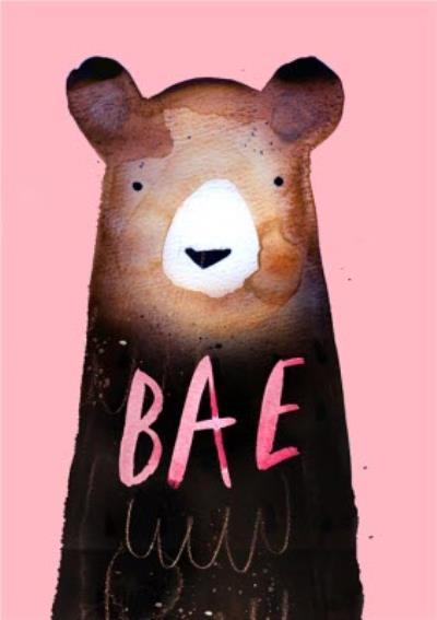 Jolly Awesome Bae Bear Card