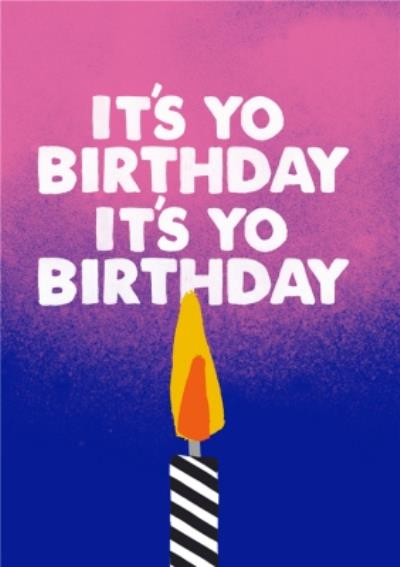 Jolly Awesome It's Yo Birthday Birthday Card