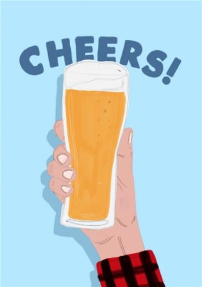 Jolly Awesome Beer Cheers Birthday Card