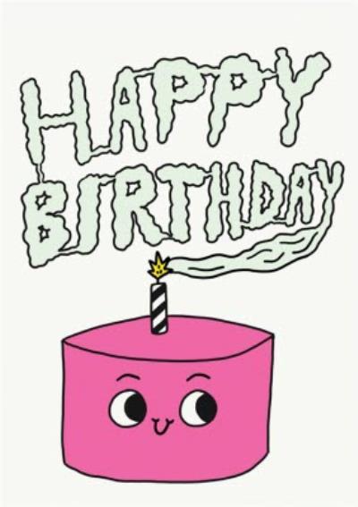Jolly Awesome Happy Birthday Cake Card