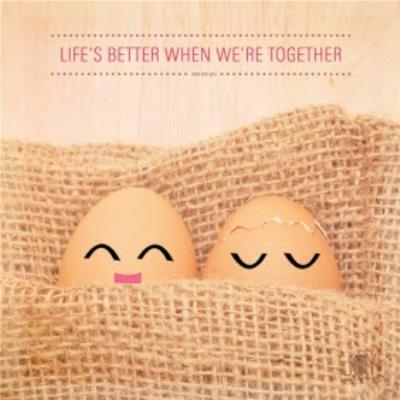 Eggs In A Basket Life's Better When We're Together Personalised Valentine's Day Card