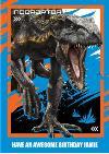 Birthday card - dinosaurs - jurassic world - indoraptor