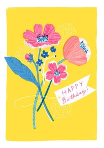 Cute Illustrated Happy Birthday Card