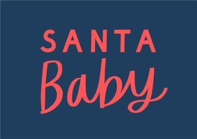Santa Baby Typographic Card