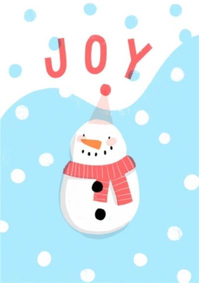 Joy Snowman Christmas Card