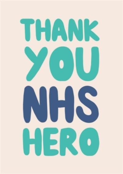 Just To Say Thank You NHS Hero Postcard