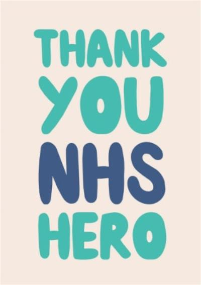 Just To Say Thank You NHS Hero Card