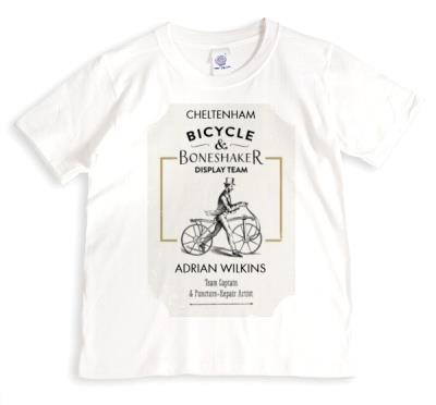 Bicycle Boneshaker Personalised T-shirt