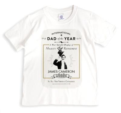 Father's Day Dad Of The Year Personalised T-shirt