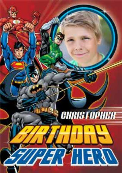 Personalised Birthday Superhero Photo Card
