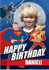 Justice League Photo Upload Happy Birthday Card