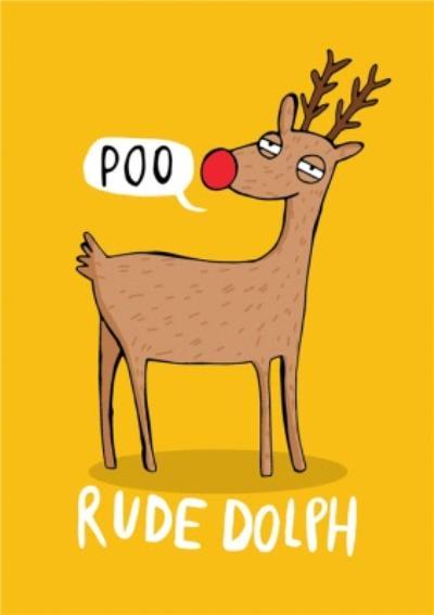 Cute Cartoon Pun Rude Dolph Poo Christmas Car