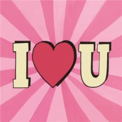 Pop Art I Heart You Card