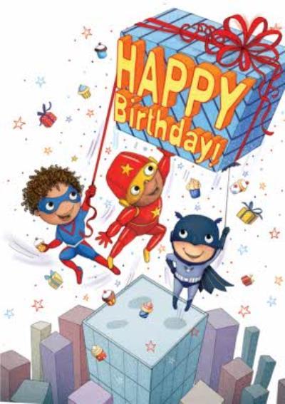 Boys Superhero Birthday Card