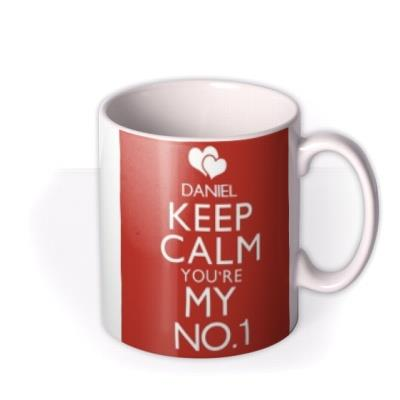 Valentine's Day Keep Calm Personalised Mug