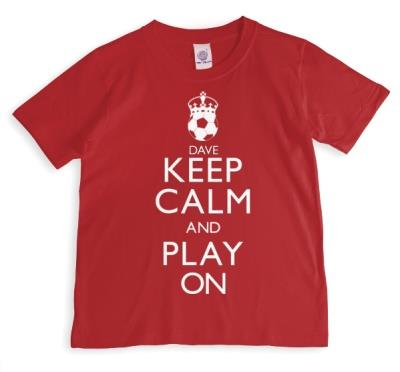 Keep Calm and Play On Football Personalised T-shirt