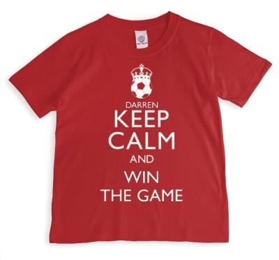 Keep Calm And Win Football Personalised T-shirt