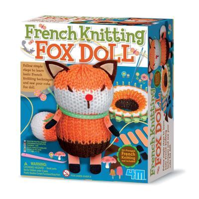 French Knitting Fox Doll