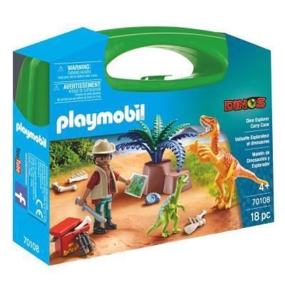 Playmobil Dinosaur Explorer Play Set & Carry Case