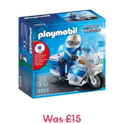 Playmobil City Action Light Up Police Bike